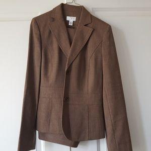 Loft Brown marled pants suit